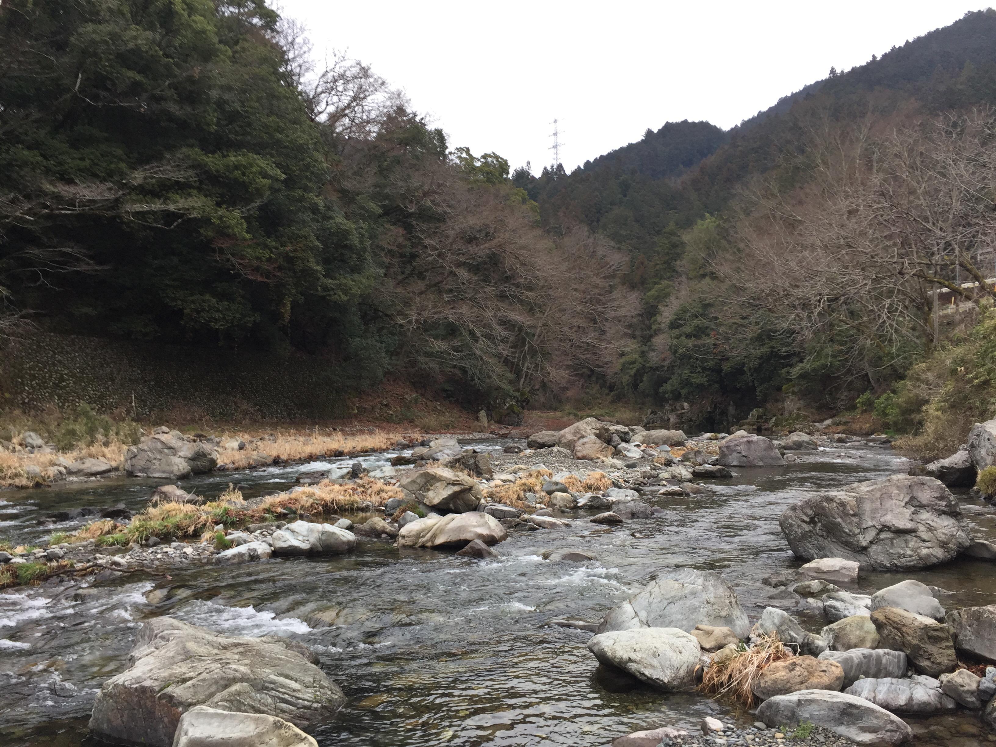 北秋川に位置する渓流「戸倉エリア」