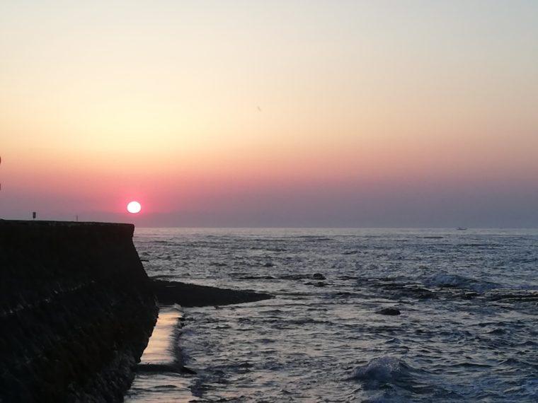 御前崎海岸の日の出